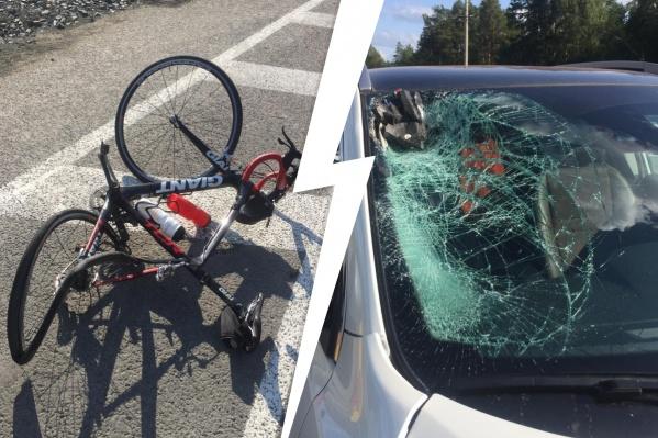 На ЕКАД водитель сбил велосипедиста