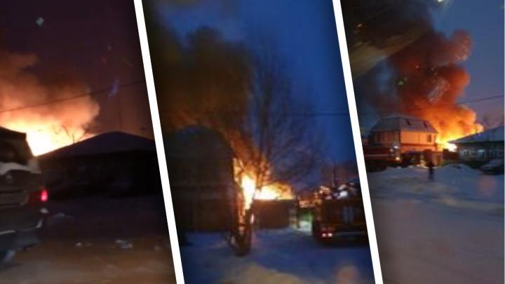 Погибли семь человек в пожаре в поселке Боровский