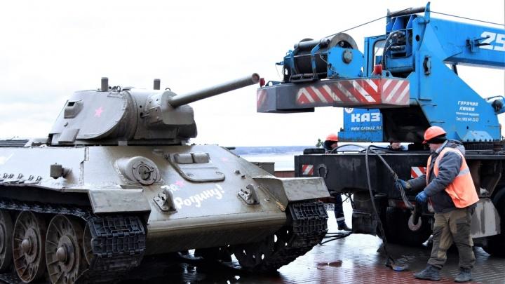 В Волгограде легендарный Т-34 готовят к участию в «Поезде Победы»