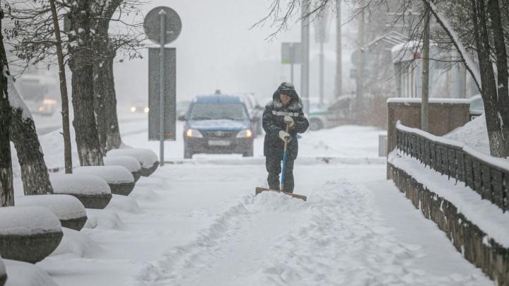 В Красноярске в 2,5раза вырос спрос на дворников. Это связывают с небывалым количеством снега