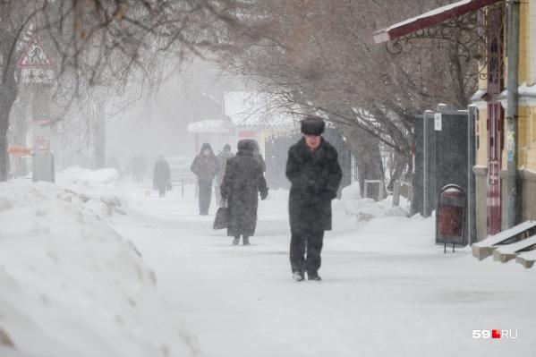 В Прикамье ожидается сильный ветер и снег