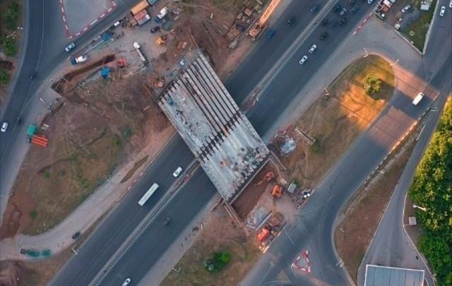Развязку на Валиди — Юлаева сняли с квадрокоптера. До конца реконструкции осталось совсем немного