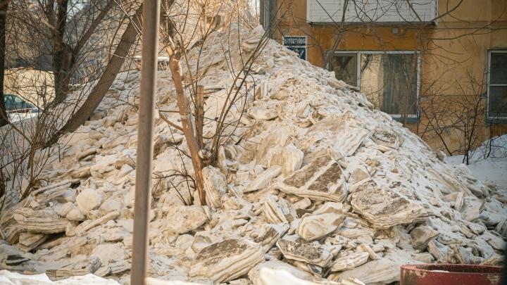 Чтобы не затопило во время паводка: в Новосибирске выделили 11миллионов на вывоз снега с опасных территорий