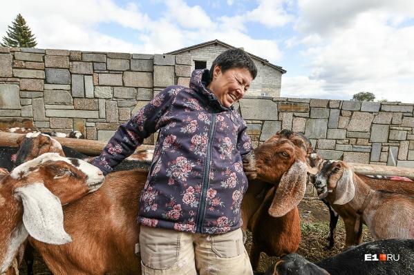 Эльвира — фермер из села Черданцево в Сысертском районе