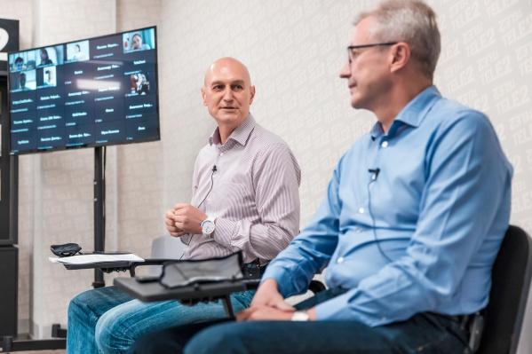 Слева: Андрей Патока, генеральный директор Tele2