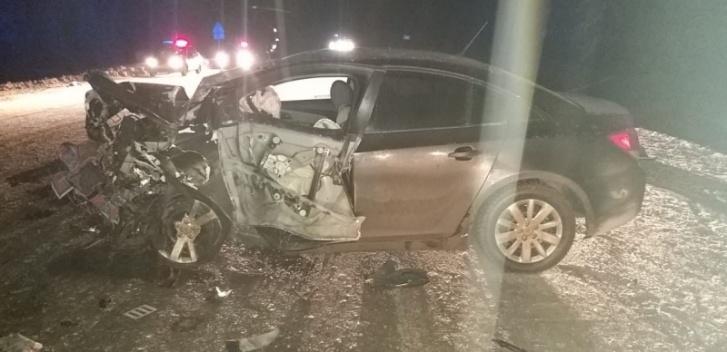 Удар был страшный — машины разбились