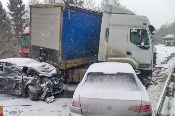 Массовая авария случилась на трассе