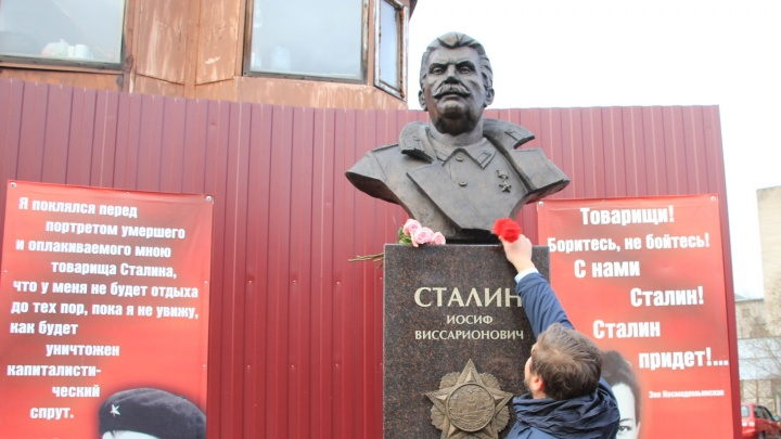 Бронзового Сталина в Архангельске придется перенести из-за строительства нового ЖК