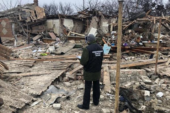 Взрыв снес полностью весь дом