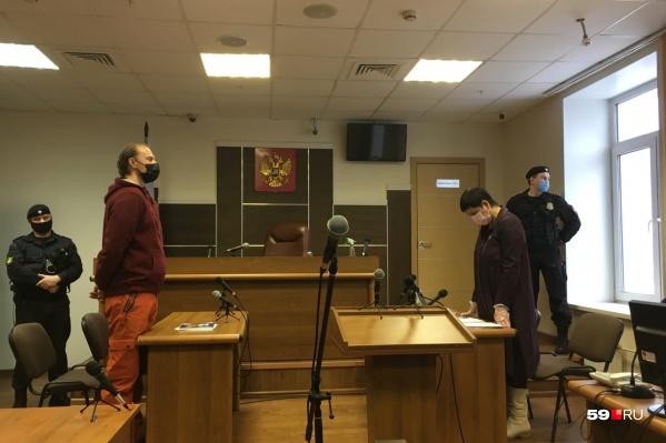 Сергей Ухов на заседании в краевом суде