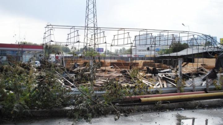 Названа предварительная причина пожара на новосибирском складе, где погиб человек