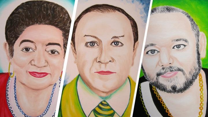 Новочеркасская художница создала сотню портретов врачей, погибших в борьбе с COVID-19