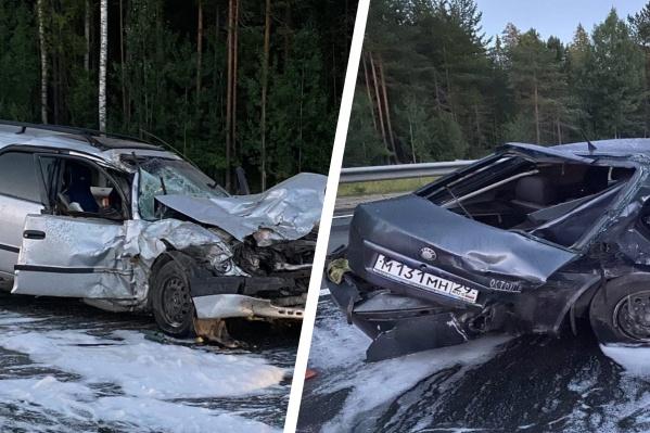 Водитель Skoda врезался в автомобиль, в котором находились мать с ребенком