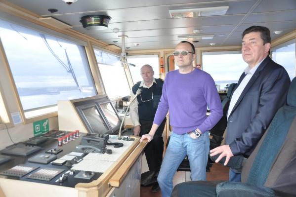 Лично увидеть теплоход, который носит гордое имя города бумажников, гостей пригласил гендиректор Северного морского пароходства