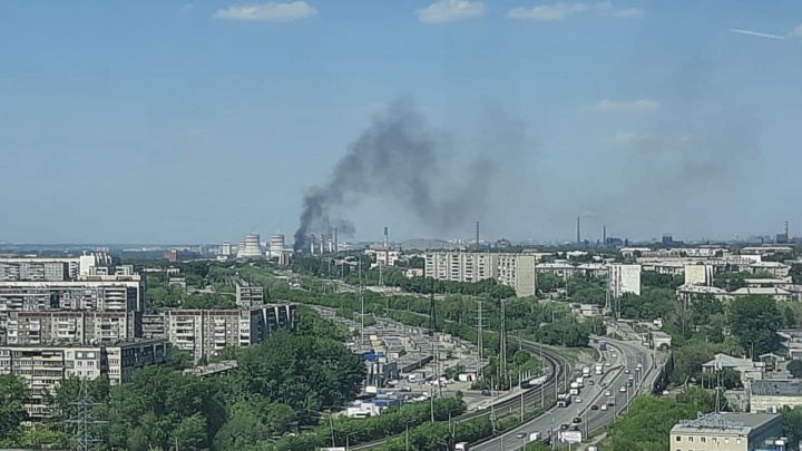 Черный столб дыма в районе ТЭЦ переполошил челябинцев
