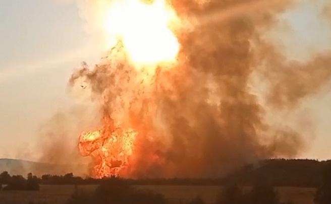 В Пермском крае произошел взрыв на газопроводе. Видео последствий
