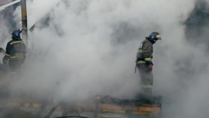 На пожаре в ишимском СНТ погиб 32-летний мужчина — огонь почти полностью уничтожил дом