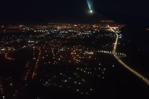 Автор видео возвращалась из Москвы домой