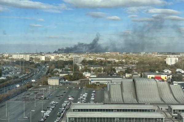 Пожар произошел на складе ЧЭМК
