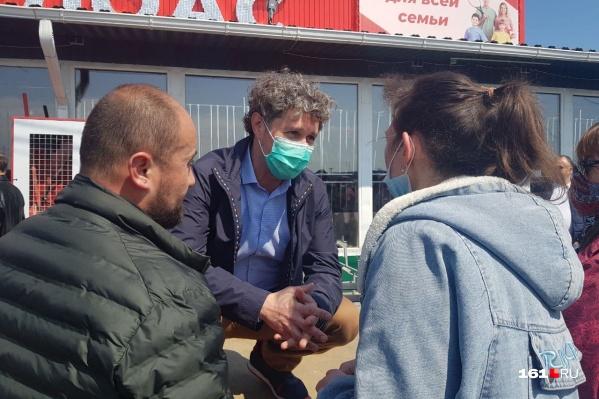 Накануне Александр Хуруджи приезжал пообщаться с бизнесменами