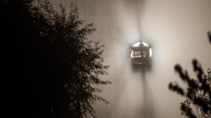 Разглядываем Новосибирск сквозь белую пелену: 10 утренних кадров из туманного города