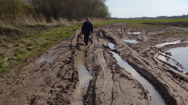«У нас кончаются продукты и газ»: из-за разбитой дороги деревня оказалась отрезанной от цивилизации