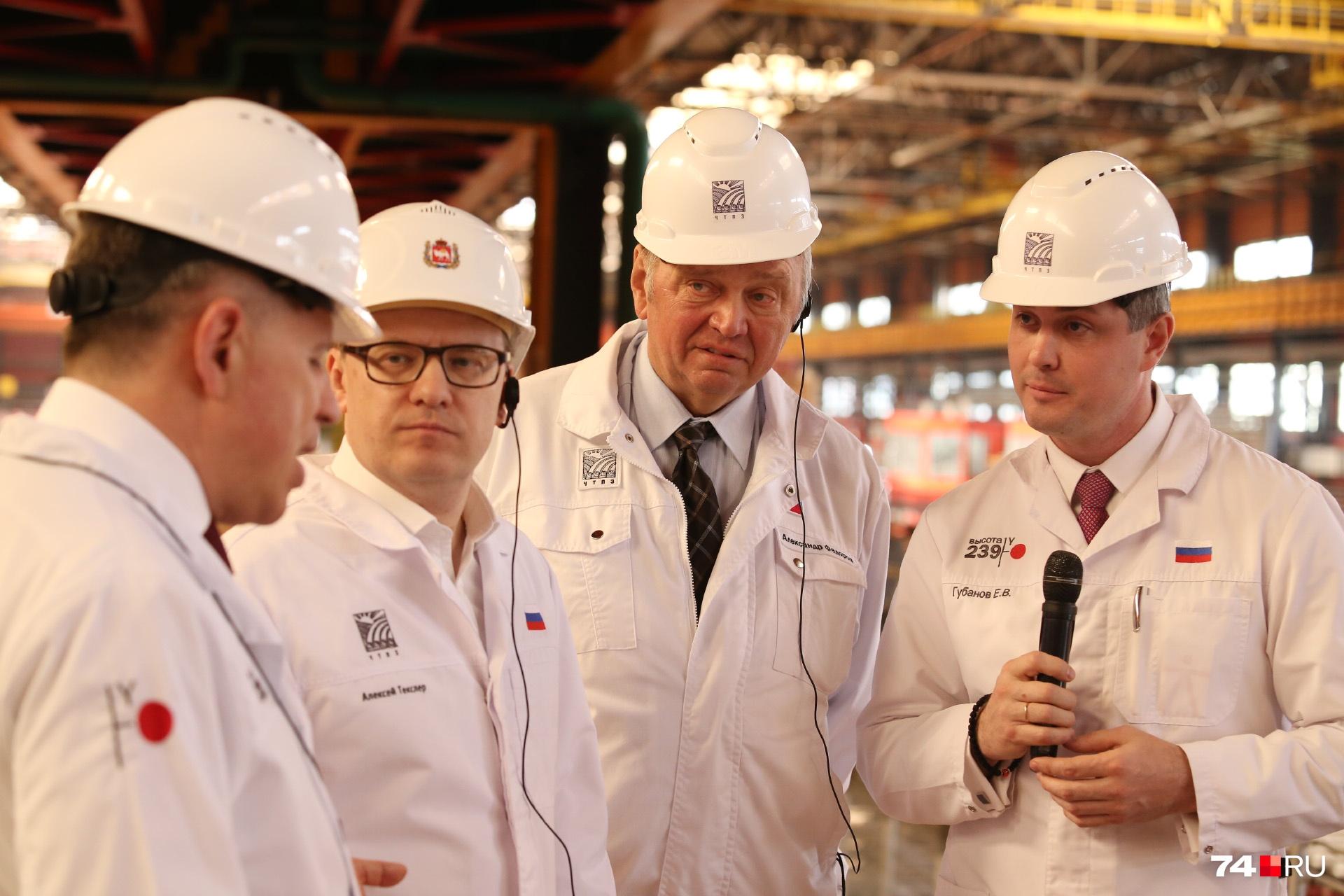 Предприниматели называют Александра Фёдорова (в центре) основателем современной промышленности в Челябинске