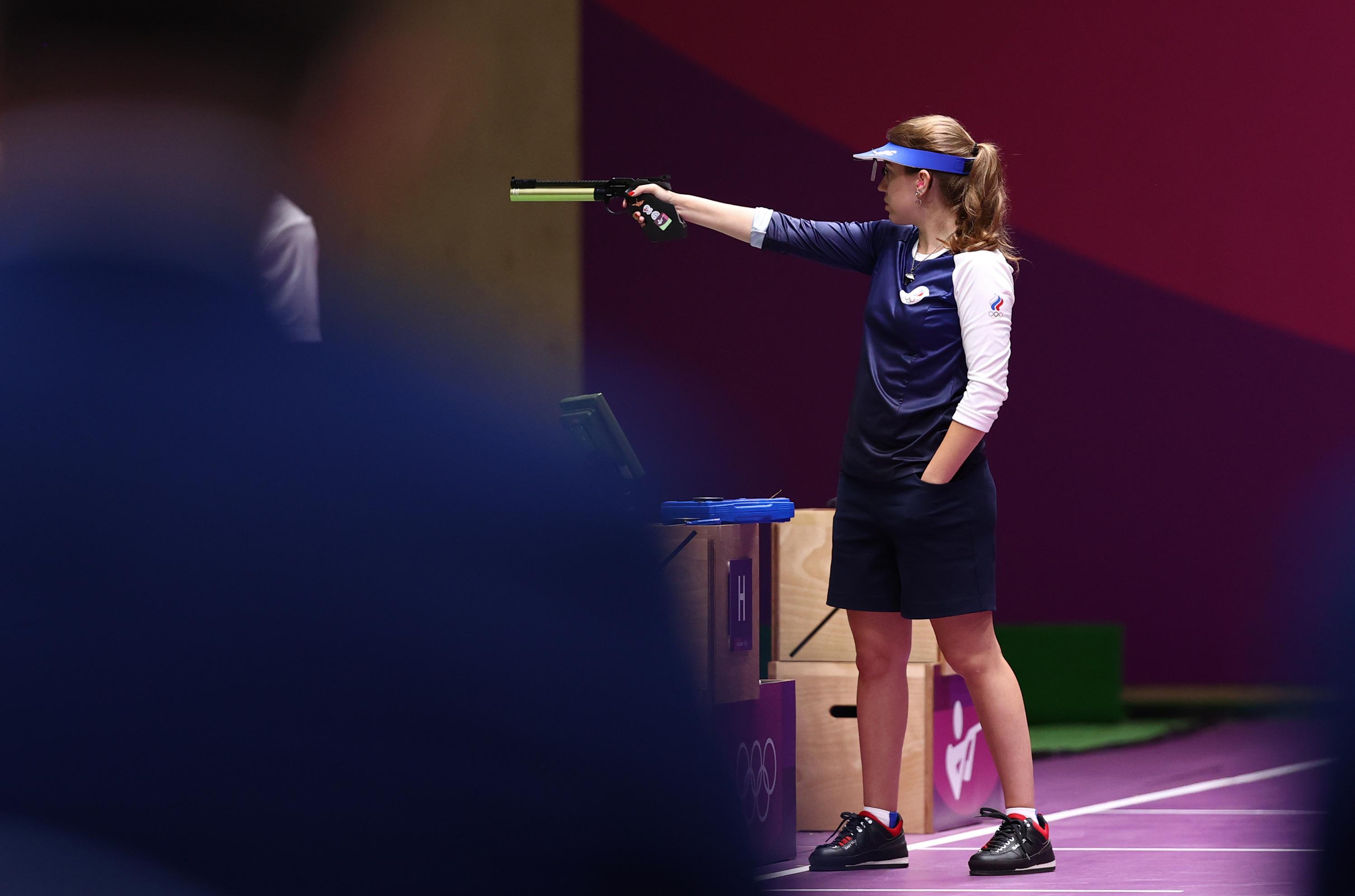 Виталина Бацарашкина во время финальных соревнований