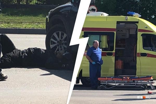 На место аварии очевидцы вызвали скорую помощь