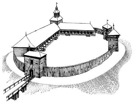 Как выглядел Обран Ош — неизвестно. Однако есть версия, что, возводя крепость, люди Юрия Всеволодовича основывались на его границах. Первый опорный пункт, созданный нижегородцами, выглядел примерно так