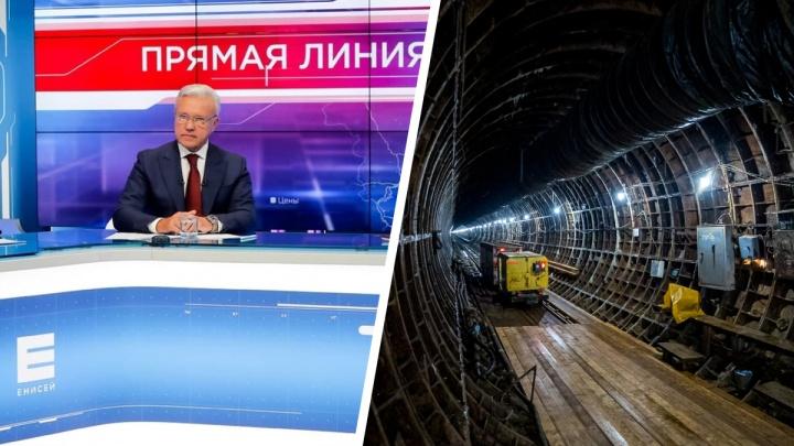 «Я уверен, что метро у нас будет»: губернатор перед выборами пообещал Красноярску подземку