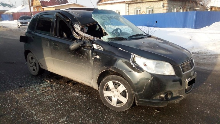 В Кургане в аварии пострадала восьмимесячная девочка