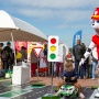 На набережной Волги проложили детскую автотрассу: фото с мини-заездов