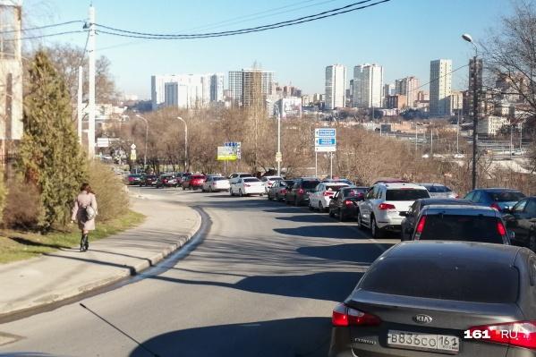 На улице Ленина останется лишь одна полоса для движения