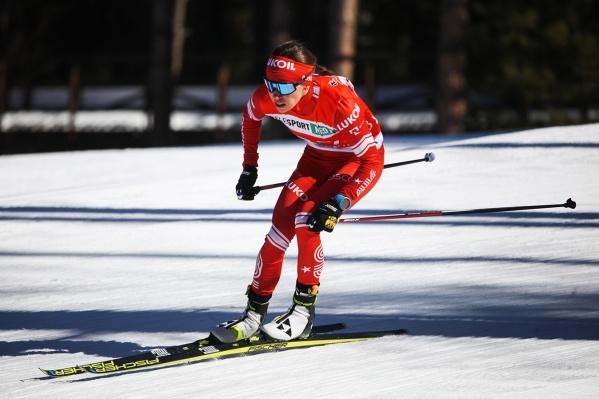 Мария Истомина во время соревнований