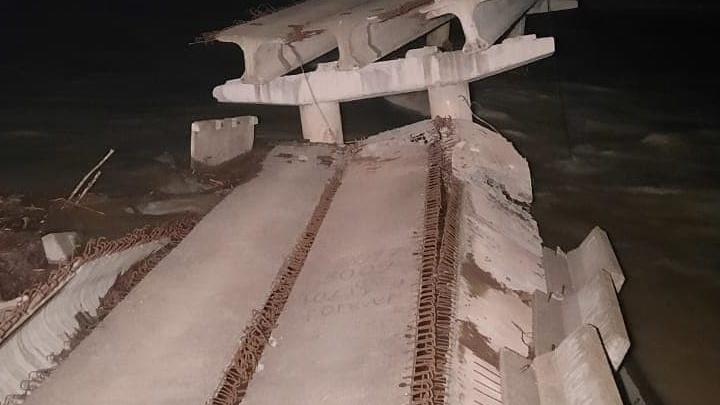 На Кубани обрушился мост через горную реку