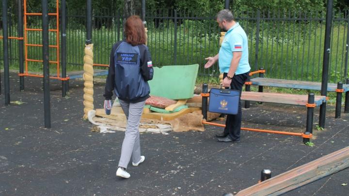 В Ярославской области детский омбудсмен возмутился лежбищу бомжей на детской площадке