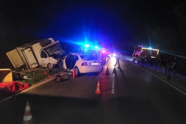 Авария случилась поздно вечером