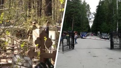 Дерево упало на женщину на Заельцовском кладбище из-за сильного ветра— видео с места происшествия