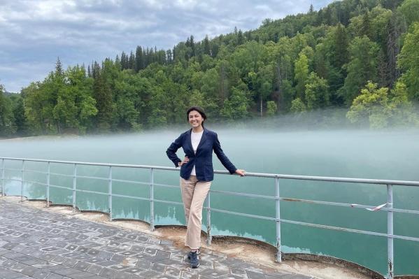 Эльмира Туканова на национальном празднике в Зилаирском районе