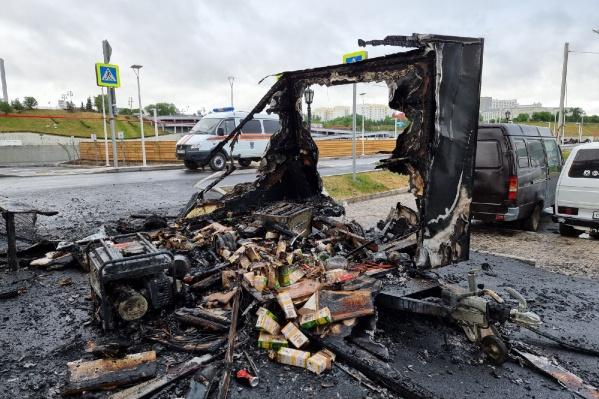 Кофейня сгорела полностью. Ущерб — около миллиона рублей