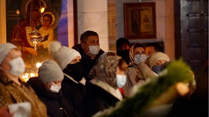 Радий Хабиров отметил Рождество в уфимском храме