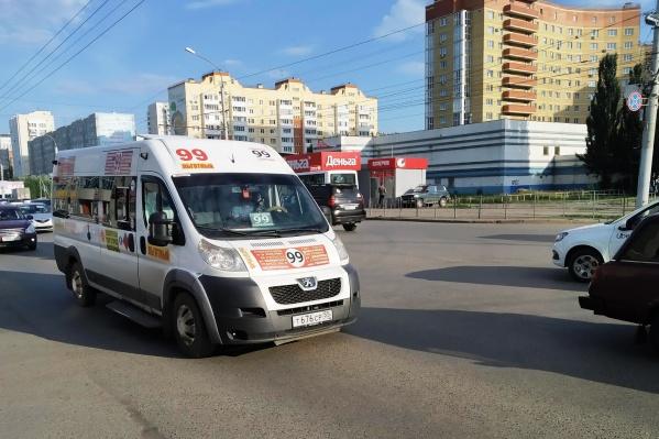 Теперь схема движения маршрутки № 99 в районе 20 лет РККА временно поменяется