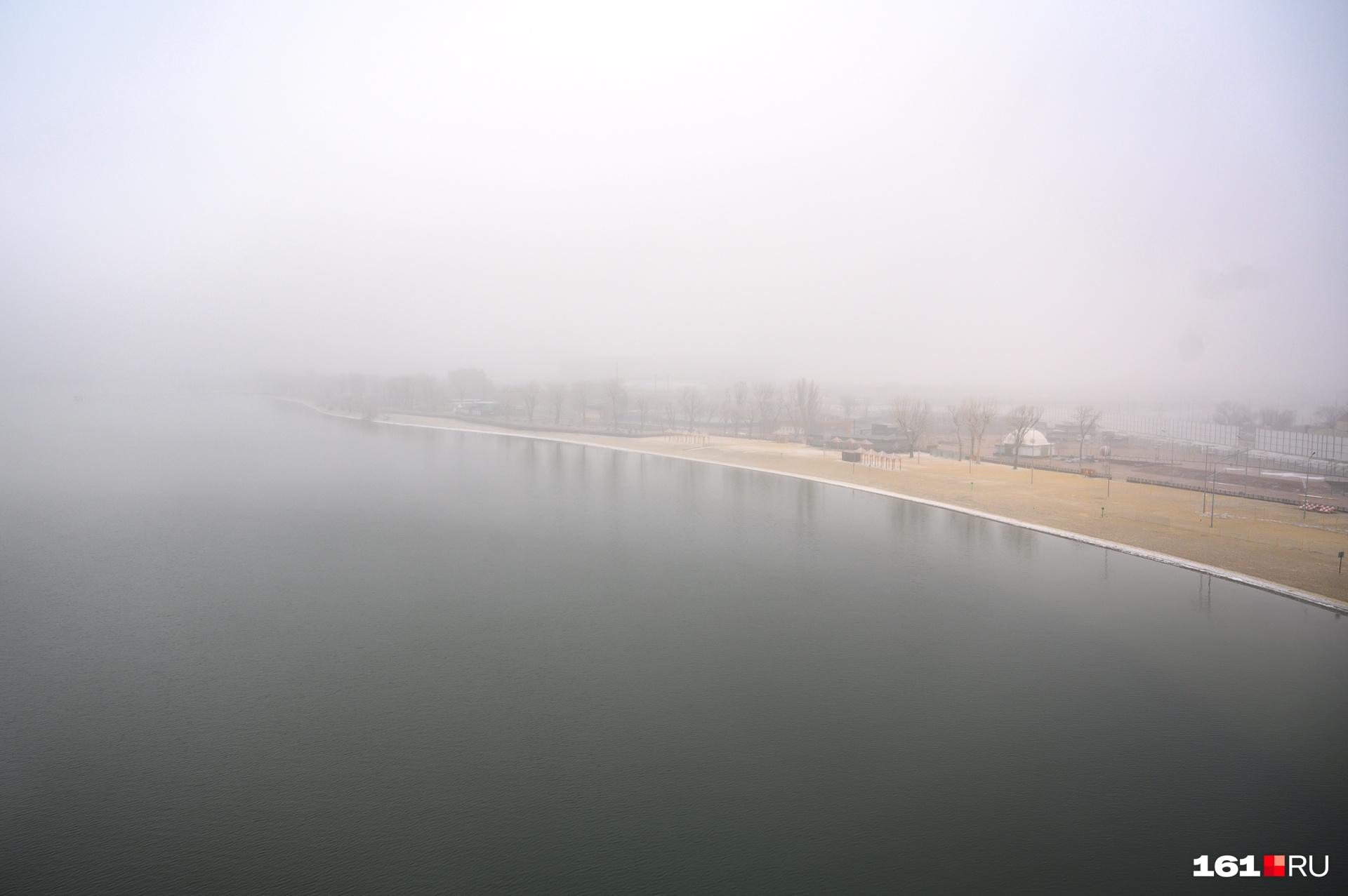 Где-то за дымкой должна быть «Ростов Арена»
