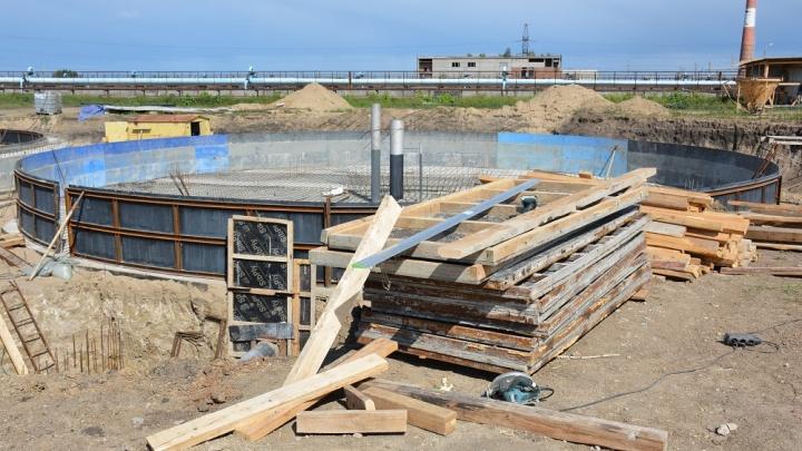 На очистных сооружениях канализации «Росводоканал Омск» начали строительство новых объектов