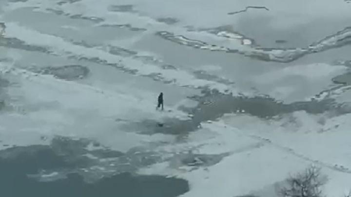 Вылез, отряхнулся, пошел дальше: отважный екатеринбуржец провалился под лед Городского пруда