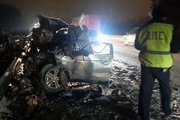 Водитель получил травмы, несовместимые с жизнью