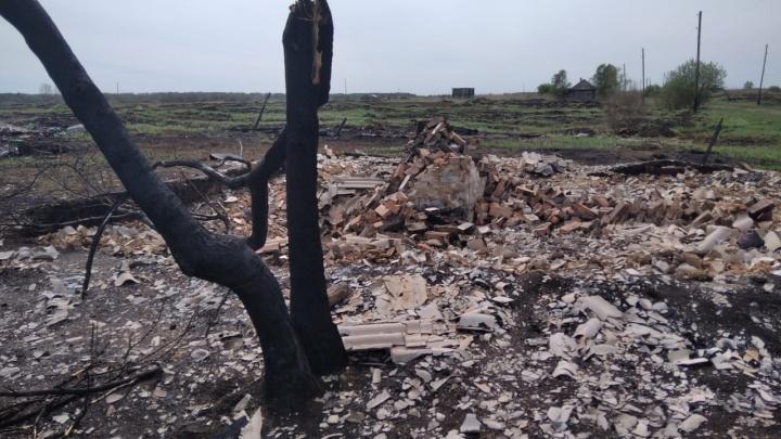 В Омской области выгорела деревня, в которую заезжал еще Радищев