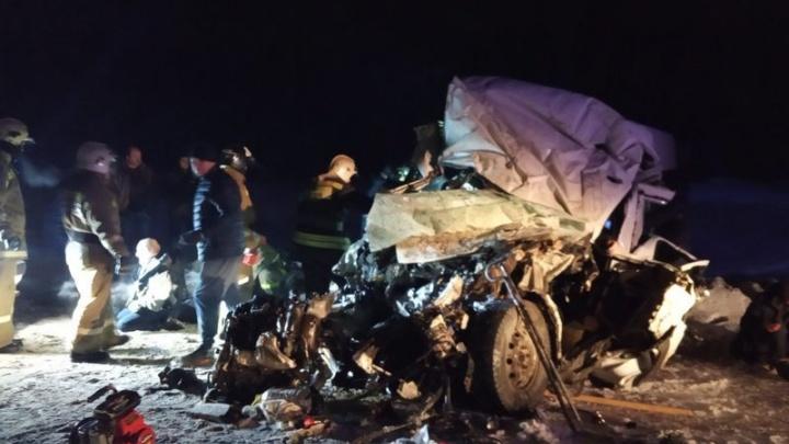 Микроавтобус — в фарш: фото с места ДТП под Самарой, где погибли 12 человек