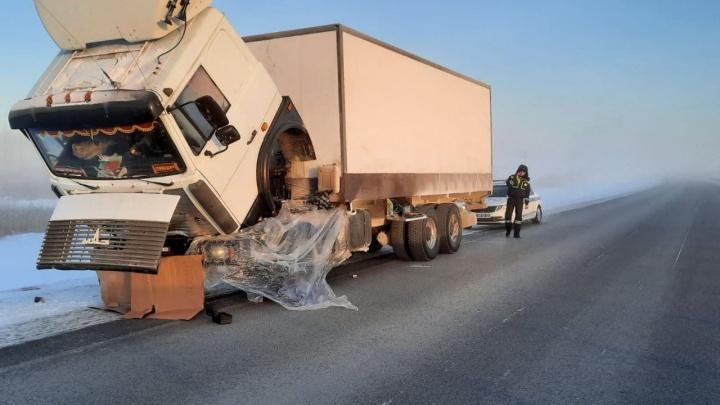 Минус 40 за бортом: на тюменских трассах из-за морозов глохнут большегрузы